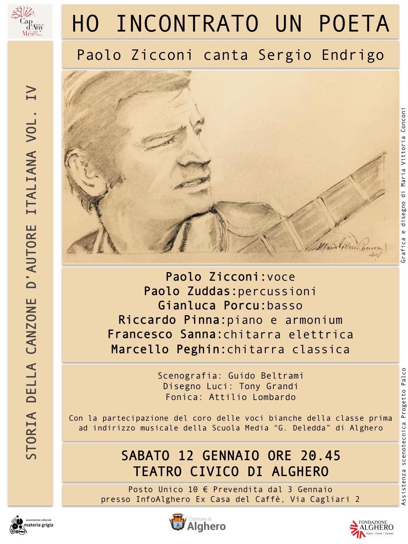 Ho incontrato un Poeta - Paolo zicconi canta Sergio Endrigo