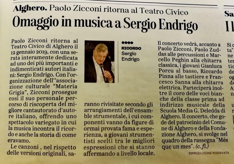 Paolo Zicconi al Teatro Civico di Alghero